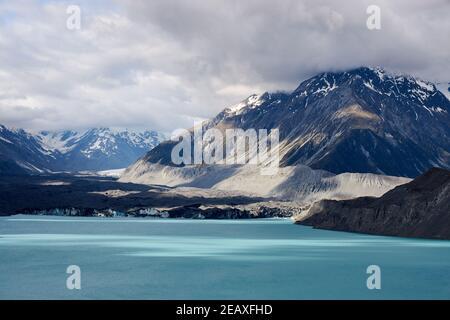 Tasman Lake, der vor kurzem vom Tasman Glacier auf der Südinsel Neuseelands im Aoraki Mt Cook National Park gegründet wurde