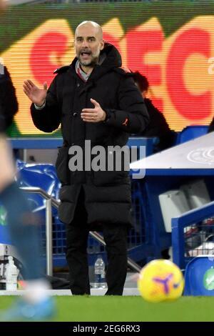 Liverpool, Großbritannien, 17th. Februar 2021. Manchester City Manager Pep Guardiola. Kredit: Anthony Devlin/Alamy Live Nachrichten
