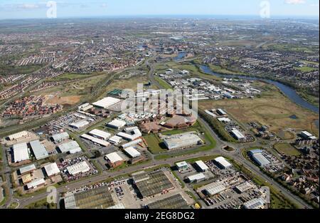Luftaufnahme des Preston Farm Business Park / Preston Farm Industrial Estate, Stockton-on-Tees