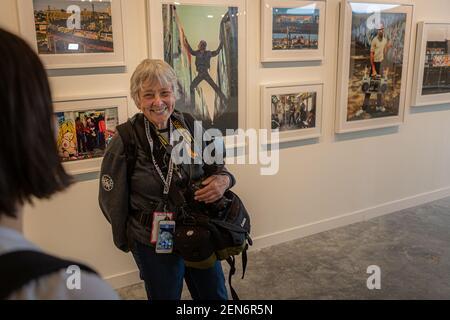 Martha Cooper ist eine amerikanische Fotojournalistin, die die New Yorker Graffiti-Szene der Jahre 1970s und 1980s dokumentierte. Beyond the Streets, die erste Ausstellung von Graffiti, Street Art und Beyond wurde am 19. Juni 2019 in Brooklyn, New York, eröffnet. Die riesige Show feiert mehr als 150 Künstler aus der ganzen Welt, darunter Shepard Fairey, Beastie Boys, Glen E. Friedman, SWOON und Guerrilla Girls. (Foto von Michael Nigro/Sipa USA)