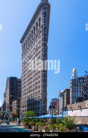 Geographie / Reisen, USA, New York, New York City, Manhattan, Flatiron Building, Additional-Rights-Clearance-Info-Not-Available Stockfoto
