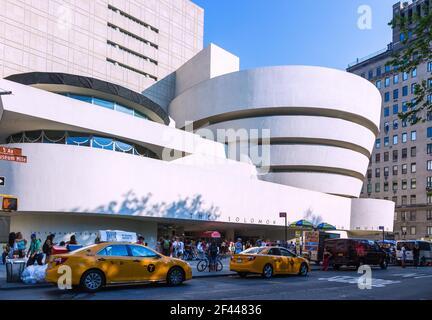 Geographie / Reisen, USA, New York, New York City, Manhattan, Solomon R. Guggenheim Museum, zusätzliche-Rechteklärung-Info-nicht-verfügbar Stockfoto