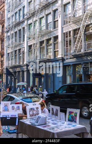 Geographie / Reisen, USA, New York, New York City, Manhattan, Soho, Prince Street, Künstler, Fassade mit , zusätzliche-Rights-Clearance-Info-not-available Stockfoto