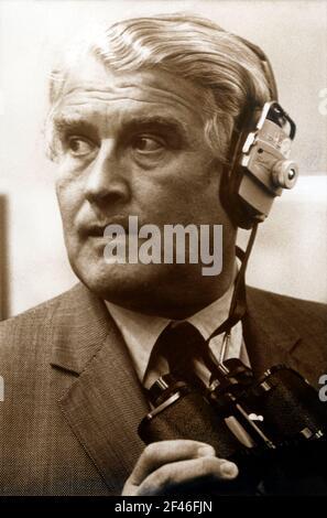 Wernher von Braun (1912-1977), ingeniero y mecánico aeroespacial estadounidense de origen alemán.