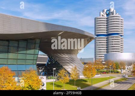 Geographie / Reisen, Deutschland, München, BMW World, BMW Mehrstöckiges Gebäude, BMW Museum, zusätzliche-Rechte-Freigabe-Info-nicht-verfügbar