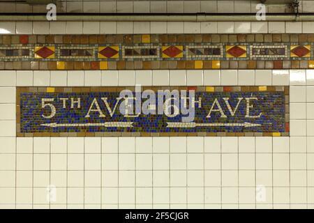 Geographie / Reisen, USA, New York, New York City, U-Bahn Station 42nd Street, Midtown Manhattan, New Y, zusätzliche-Rights-Clearance-Info-not-available