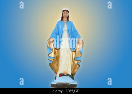 Statue des Gnadenbildes Unserer Lieben Frau, Mutter Gottes in der katholischen Religion, Jungfrau Maria