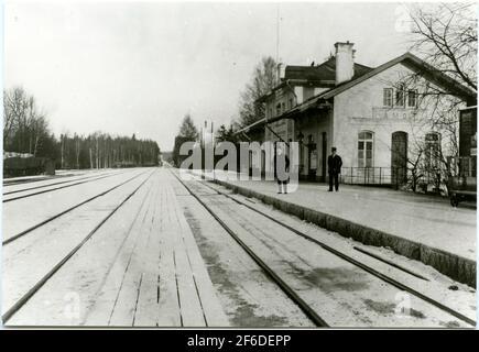 Bahnhof Åmot, später Åmotors.