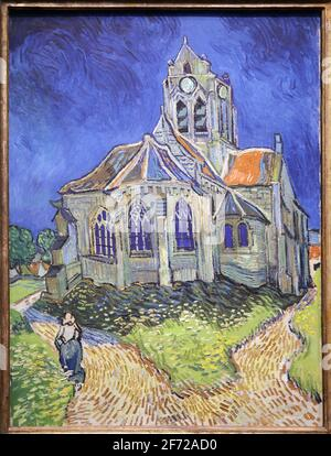 Die Kirche von Auvers-Sur-Oise-Blick von der Stirnseite 1890 von Vincent Van Gogh 1853-1890