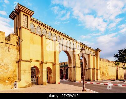 Moulay Ismail Mausoleum Gate, Meknes, Fez-Meknes Region, Marokko, Nordafrika, Afrika