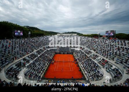 Tennis - ATP Masters 1000 - Ital Open - Foro Italico, Rom, Italien - 16. Mai 2021 Gesamtansicht des Stadions während des Spiels REUTERS/Guglielmo Mangiapane