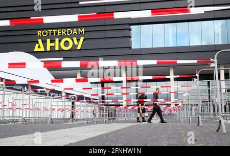 Rotterdam, Niederlande. Mai 2021. Ein Blick auf die Rotterdam Ahoy Arena, in der der Eurovision Song Contest 2021 stattfindet. Quelle: Vyacheslav Prokofyev/TASS/Alamy Live News