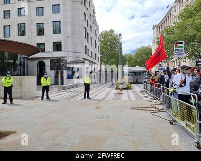 Central London, England. Mai 2021. Tausende Menschen nehmen an einer Kundgebung zur Unterstützung des freien Palästinas und zur Beendigung der illegalen Besetzung von Gaza Teil.