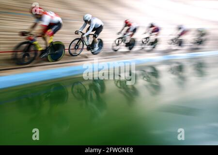 Moskau, Russland. Mai 2021. Teilnehmer am Grand Prix of Moscow Track Cycling Event 2021 im Krylatskoye Velodrome. Kredit: Sergei Bobylev/TASS/Alamy Live Nachrichten