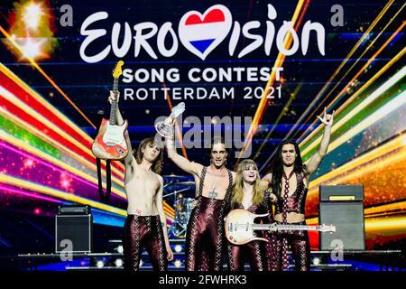 Maneskin aus Italien tritt nach dem Gewinn des Eurovision Song Contest 2021 in Rotterdam, Niederlande, am 23. Mai 2021 auf der Bühne auf. REUTERS/Piroschka van de Wouw