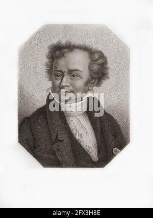 Dominique Vivant, Baron Denon, 1747 – 1825. Französischer Künstler, Diplomat, Autor, Archäologe und erster Direktor des Louvre-Museums. Nach einer Arbeit aus dem 19. Jahrhundert.
