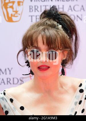 Helena Bonham Carter kommt für die Virgin Media BAFTA TV Awards im TV Centre, Wood Lane, London. Bilddatum: Sonntag, 6. Juni 2021.