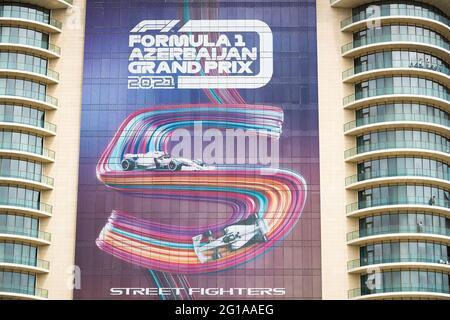 Baku, Aserbaidschan. 06. Juni 2021. Illustration während des Formel 1 Großen Preises von Aserbaidschan 2021 vom 04. Bis 06. Juni 2021 auf dem Baku City Circuit, in Baku, Aserbaidschan - Foto Antonin Vincent/DPPI/LiveMedia Kredit: Independent Photo Agency/Alamy Live News