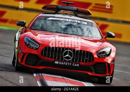 Baku, Aserbaidschan. Juni 2021. Mercedes FIA Safety Car. Großer Preis von Aserbaidschan, Sonntag, 6. Juni 2021. Baku City Circuit, Aserbaidschan. Quelle: James Moy/Alamy Live News
