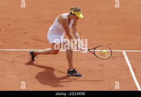 Paris, Frankreich. Juni 2021. Anastasia Pavlyuchenkova aus Russland während des Roland-Garros 2021, Grand Slam Tennisturniers am 12. Juni 2021 im Roland-Garros Stadion in Paris, Frankreich - Foto Nicol Knightman/DPPI/LiveMedia Kredit: Unabhängige Fotoagentur/Alamy Live News