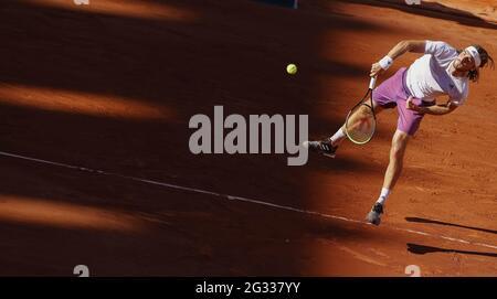 Paris, Frankreich. Juni 2021. Stefanos Tsitsipas aus Griechenland während des Männer-Finales bei Roland-Garros 2021, Grand Slam Tennisturnier am 13. Juni 2021 im Roland-Garros Stadion in Paris, Frankreich - Foto Nicol Knightman/DPPI Credit: DPPI Media/Alamy Live News