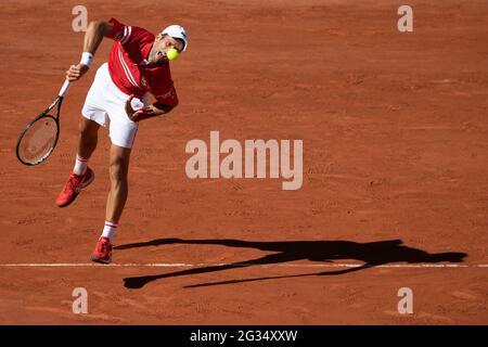 Paris, Frankreich. 13. Juni 2021. Teilnahme an den French Open 2021 bei Roland Garros am 13. Juni 2021 in Paris, Frankreich. Foto von Laurent Zabulon/ABACAPRESS.COM Quelle: Abaca Press/Alamy Live News