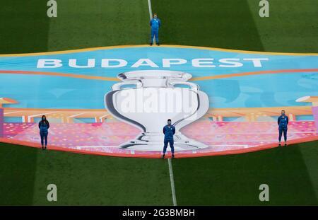 Fußball - Euro 2020 - Gruppe F - Ungarn gegen Portugal - Puskas Arena, Budapest, Ungarn - 15. Juni 2021 Gesamtansicht vor dem Spielpool über REUTERS/Laszlo Balogh