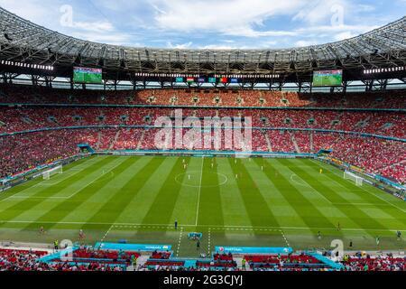 BUDAPEST, UNGARN - 15. JUNI: Gesamtansicht des Spielfelds während des UEFA Euro 2020 Championship Group F-Spiels zwischen Ungarn und Portugal am 15. Juni 2021 in Budapest, Ungarn. (Foto nach MB-Medien)