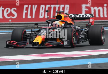 Formel 1 F1 - großer Preis von Frankreich - Circuit Paul Ricard, Le Castellet, Frankreich - 18. Juni 2021 Vestappen während des Trainings REUTERS/Yves Herman