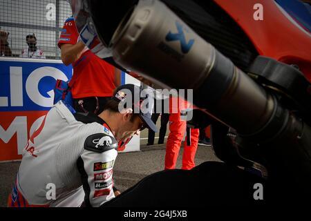 Hohenstein Ernstthal, Deutschland. Juni 2021. Rennen beim MotoGP Liqui Moly Grand Prix of Deutschland auf dem Sachsenring, Hohenstein-Ernstthal, Deutschland, Juni 20, 2021 in Bild: Carreras del Gran Premio Liqui Moly de MotoGP de Alemania en el Circuito de Sachsenring, Hohenstein-Ernstthal, Alemania 20 de Junio de 2021 POOL/ MotoGP.com/Cordon die Pressebilder sind nur für redaktionelle Zwecke bestimmt. Obligatorischer Kredit: © motogp.com Kredit: CORDON PRESS/Alamy Live News
