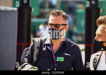 Spielberg, Österreich. Juni 2021. Carlo Vanzini, Sky Italia; Formel-1-Weltmeisterschaft 2021, Steirischer GP 2021, 24-27. Juni 2021 Quelle: Independent Photo Agency/Alamy Live News