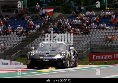 Spielberg, Österreich. Juni 2021. # 11 Florian Latorre (F, CLRT), Porsche Mobil 1 Supercup am Red Bull Ring am 27. Juni 2021 in Spielberg, Österreich. (Foto von HOCH ZWEI) Quelle: dpa/Alamy Live News