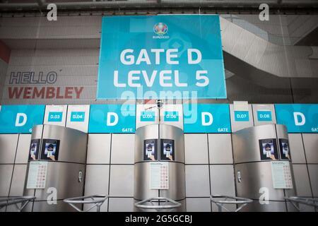 London, Großbritannien. 27. Juni : Wembley Stadion im Bild.