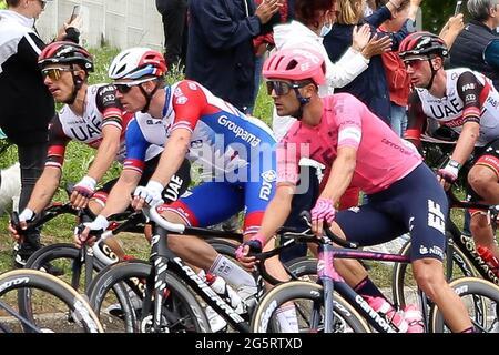 Redon, Fougeres, Frankreich, 29/06/2021, Arnaud Demare von Groupama FDJ während der Tour de France 2021, Radrennen Etappe 4, Redon - Fougeres (150,4 km) am 29. Juni 2021 in Fougeres, Frankreich - Foto Laurent Lairys / DPPI