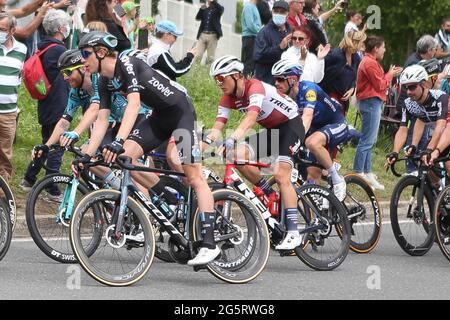 Redon, Fougeres, Frankreich, 29/06/2021, Toms Skujins von Trek-Segafredo während der Tour de France 2021, Radrennen Etappe 4, Redon - Fougeres (150,4 km) am 29. Juni 2021 in Fougeres, Frankreich - Foto Laurent Lairys / DPPI