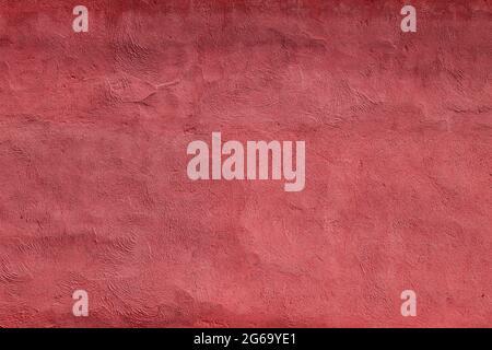 Rote Stuckverzierung Plaser Wandstruktur oder Hintergrund