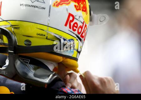 VERSTAPPEN Max (NED), Red Bull Racing Honda RB16B, Portrait während der Formel 1 Grosser Preis von Osterreich 2021, 2021 großer Preis von Österreich, 9. Lauf der FIA Formel 1 Weltmeisterschaft 2021 vom 2. Bis 4. Juli 2021 auf dem Red Bull Ring, in Spielberg, Österreich - Foto DPPI