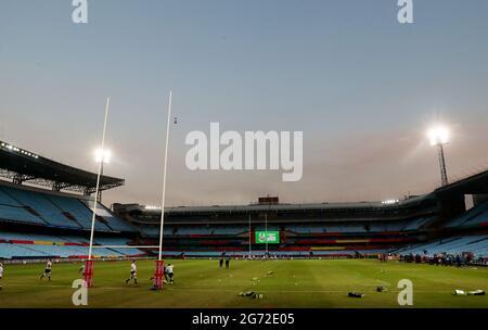 Rugby Union - Lions Tour - Sharks gegen Britische und Irische Löwen - Loftus Versfeld Stadium, Pretoria, Südafrika - 10. Juli 2021 Allgemeine Ansicht im Stadion vor dem Spiel REUTERS/Sipiwe Sibeko