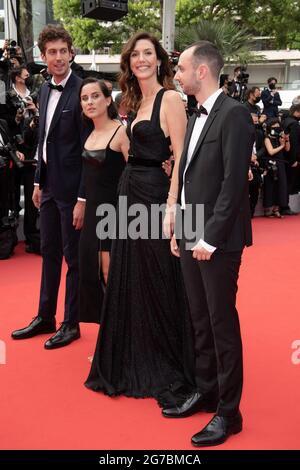 Cannes, Frankreich. Juli 2021. Doria Tillier nimmt an der französischen Dispatch-Vorführung während der 74. Jährlichen Filmfestspiele von Cannes am 1É. Juli 2021 in Cannes, Frankreich, Teil. Foto von David Niviere/ABACAPRESS.COM Quelle: Abaca Press/Alamy Live News