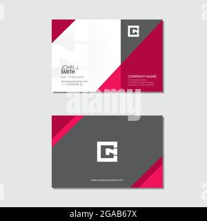 Visitenkartenvorlage, Prismenform Version 1 Vektor