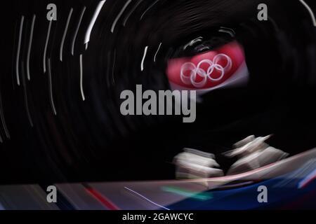 Gesamtansicht, 1. AUGUST 2021 - Fechten: Finale des Männer-Foil-Teams während der Olympischen Spiele 2020 in Tokio in der Makuhari Messe Halle B in Chiba, Japan. (Foto von YUTAKA/AFLO SPORT)