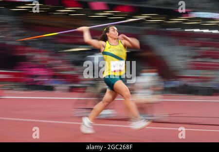 Olympische Spiele 2020 in Tokio - Leichtathletik - 400 m der Frauen - Finale - Olympiastadion, Tokio, Japan - 6. August 2021. Mackenzie wenig von Australien in Aktion
