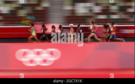 Olympische Spiele 2020 in Tokio - Leichtathletik - 10000 m der Frauen - Olympiastadion, Tokio, Japan - 7. August 2021. Allgemeine Ansicht REUTERS/Andrew Boyers
