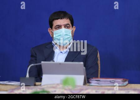 Teheran, Teheran, Iran. August 2021. Vizepräsident MOHAMMAD MOKHBER DEZFULLY nimmt an einem Kabinettstreffen in Teheran, Iran, Teil (Foto: © Iranischer Ratsvorsitz via ZUMA Press Wire)