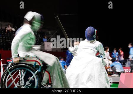 Tokio, Japan. August 2021. Tokio Paralympische Spiele 2020, 25. August: Fechten, Women's Épée Individual, Tokio, Japan. Italien, PASQUINO Rossano Credit: Marco Ciccolella/Alamy Live News