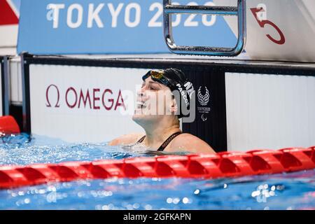 TOKIO, JAPAN. 26. August 2021. Während der Schwimmfinals der Paralympischen Spiele von Tokio 2020 im Tokyo Aquatics Center am Donnerstag, 26. August 2021 in TOKIO, JAPAN. Kredit: Taka G Wu/Alamy Live Nachrichten