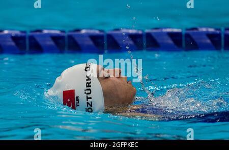 25. August 2021: Svilay Ozturk beim Schwimmen bei den Paralympischen Spielen 2020 in Tokio am 25. August 2021 im Tokioter Wasserzentrum in Tokio, Japan. (Foto von Kim Price/CSM/Sipa USA)