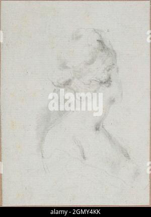 Kopf und Schultern einer Frau. Künstler: baron Dominique Vivant Denon (französisch, Givry 1747-1825 Paris); Datum: Ca. 1794; Mittel: Schwarze Kreide; Abmessungen: