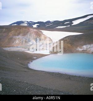 Krafla geothermische Gebiet Nordost Island Polar Regions - Stockfoto