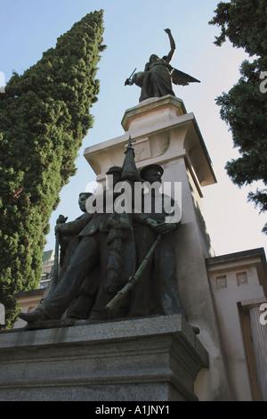 Nach oben auf einem der Gräber in Recoleta B - Stockfoto